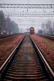 Carriles del tren Imágenes de archivo libres de regalías