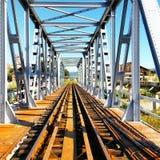 Carriles del tren Foto de archivo