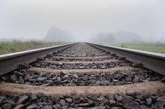 Carriles del tren fotos de archivo