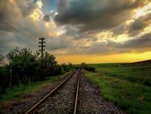 Carriles del tren Imagenes de archivo
