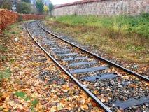 Carriles del tren de Copenhague Foto de archivo libre de regalías