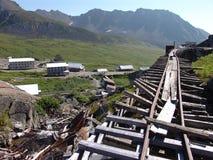 Carriles del tren de la mina de la independencia Imagen de archivo