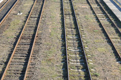 Carriles, ferrocarril Imagen de archivo