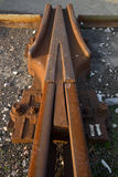Carriles ferroviarios Foto de archivo libre de regalías