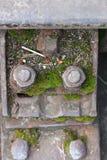 Carriles ferroviarios Imagen de archivo libre de regalías