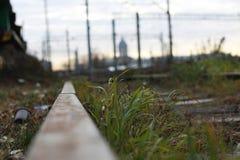 Carriles ferroviarios Imágenes de archivo libres de regalías