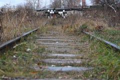Carriles ferroviarios Imagenes de archivo