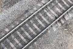 Carriles ferroviarios Fotos de archivo