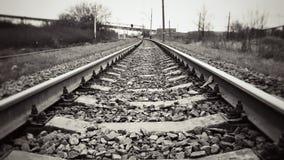 Carriles ferroviarios Foto de archivo