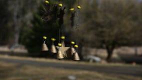Carrilhões de vento video estoque