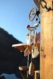 Carrilhões de vento de madeira Fotos de Stock Royalty Free