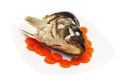Carrillo y zanahoria cocinados Fotos de archivo libres de regalías
