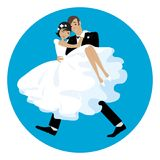 Carring die Braut stock abbildung