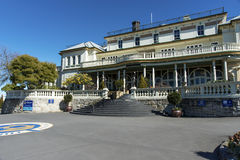 Carrington Hotel forecourt. Forecourt to the Grand old hotel Carrington in the main street in Katoomba NSW Australia Royalty Free Stock Photography