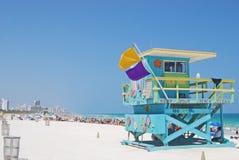 Carrinho colorido do Lifeguard fotografia de stock royalty free