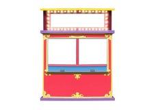 Carrinho da cabine de bilhete do carnaval do circo Fotos de Stock