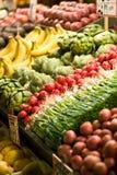 Carrinho da fruta e verdura Foto de Stock
