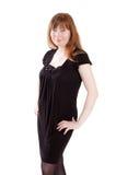 Carrinho da mulher no vestido preto Foto de Stock