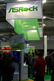 Carrinho de Asrock na expo do computador de CEBIT Imagens de Stock