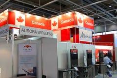 Carrinho de Canadá na expo do computador de CEBIT Imagens de Stock Royalty Free