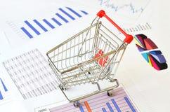 Carrinho de compras Fotografia de Stock