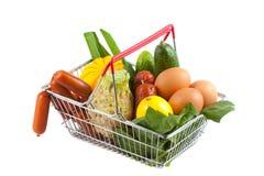 Carrinho de compras com o produto saudável perfeito Fotografia de Stock