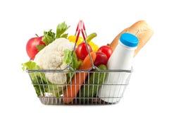 Carrinho de compras com produto perfeito Fotografia de Stock