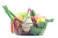 Carrinho de compras com produto perfeito Imagem de Stock Royalty Free