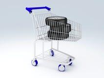 Carrinho de compras com rodas Imagem de Stock