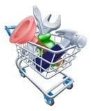 Carrinho de compras da ferramenta Imagens de Stock