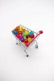 Carrinho de compras diminuto Fotos de Stock