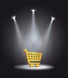 Carrinho de compras leve do refletor Fotografia de Stock