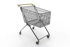 Carrinho de compras (preto) Fotografia de Stock Royalty Free