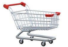 Carrinho de compras vazio no fundo branco Foto de Stock Royalty Free