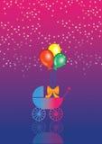 Carrinho de criança de bebê 01 Ilustração Royalty Free