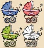 Carrinho de criança de bebê Fotografia de Stock