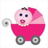Carrinho de criança de bebê Imagens de Stock Royalty Free