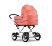 Carrinho de criança de bebê retro Para o menino rendição 3d Foto de Stock Royalty Free