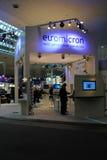 Carrinho de Euromicron na expo do computador de CEBIT Fotografia de Stock