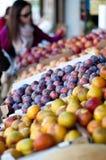 Carrinho de fruta Fotos de Stock Royalty Free