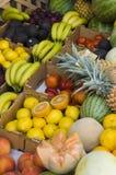 Carrinho de fruta fresca Imagem de Stock Royalty Free