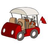 Carrinho de golfe Imagens de Stock