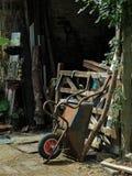Carrinho de mão de roda em repouso Fotografia de Stock