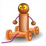 Carrinho de madeira do brinquedo Fotos de Stock