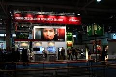 Carrinho de McAfee na expo do computador de CEBIT Imagens de Stock Royalty Free