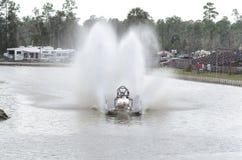 Carrinho de pântano com roostertails Imagens de Stock