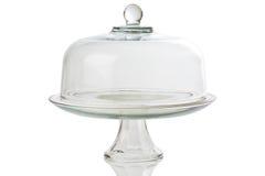 Carrinho de vidro do bolo Imagens de Stock Royalty Free