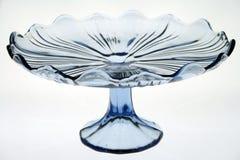 Carrinho de vidro do bolo Fotos de Stock Royalty Free