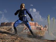Carrinho do último de Custerâs Fotos de Stock
