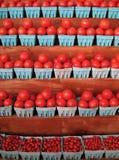 Carrinho do tomate Fotos de Stock